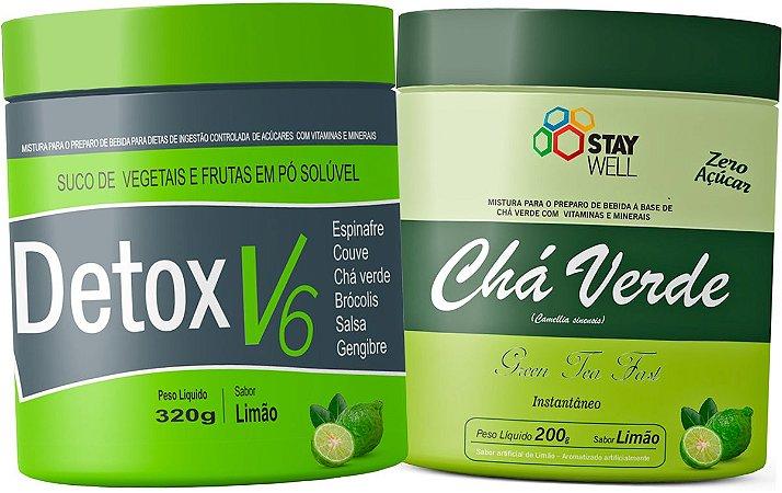 Suco Detox V6 320g + Chá Verde 200g