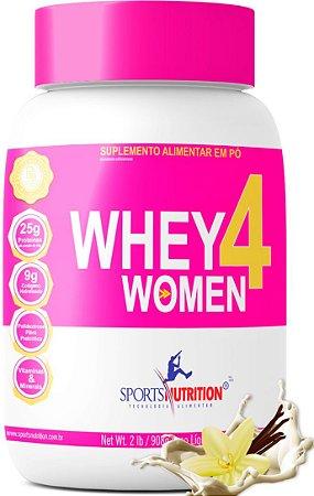 Whey Protein 4 Women com Colágeno e BCAA -- A melhor Whey feminina do Mercado - 908g