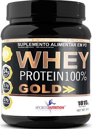 Whey Protein 100% Gold - 26g de Proteína por dose - 1815g