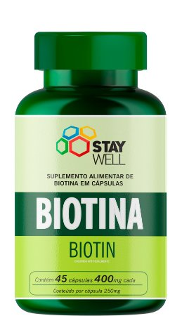 Biotina 400mg - 45 Cápsulas