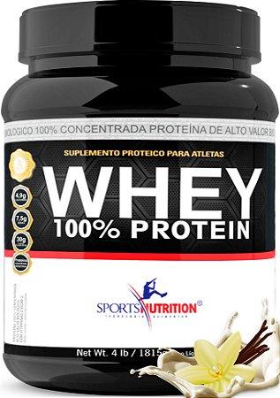 Whey Protein 100% Concentrada - 30g de proteína por dose - 1,815kg