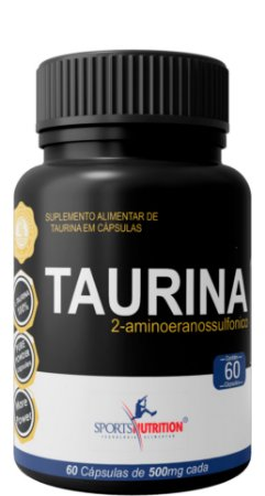 Taurina 100% Pure 1000mg - Definição Muscular - 60 Cápsulas