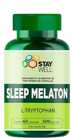 Sleep Melaton 500mg - Precursor da Melatonina e Seratonina - 60 Cápsulas