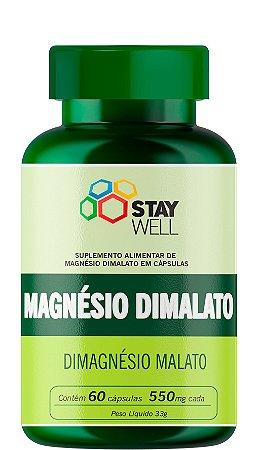 Magnésio Dimalato Puro 550mg - 60 Cápsulas