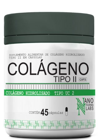 Colágeno Hidrolisado Tipo II – 45 Cápsulas