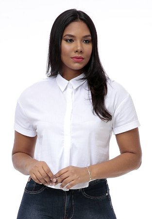 7200302-Camisa Cropped Tricoline