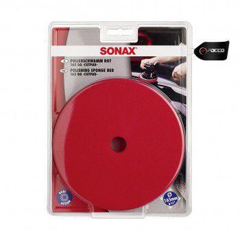 Boina de Espuma c/ Furo Vermelha  6'' Sonax