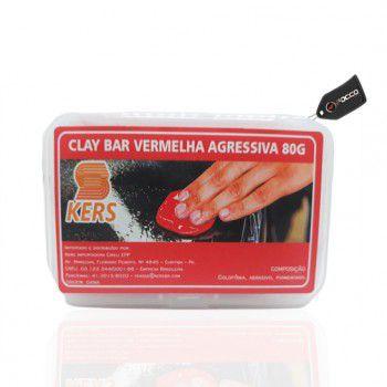 Clay Bar Vermelho Agressivo 80g Kers