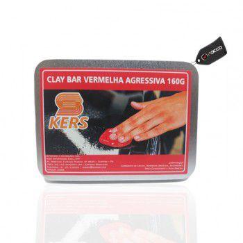 Clay Bar Vermelho Agressivo 160g Kers