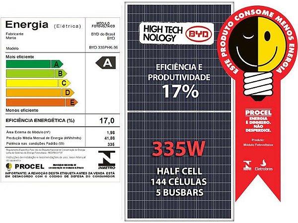 Módulo Painel Placa Solar Fotovoltaico 335w Byd Certificado