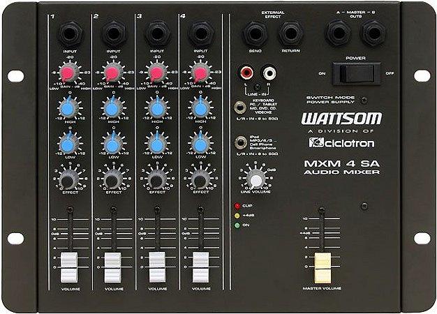 Mesa De Som 4 Canais Mxm 4 Sa Wattsom Ciclotron