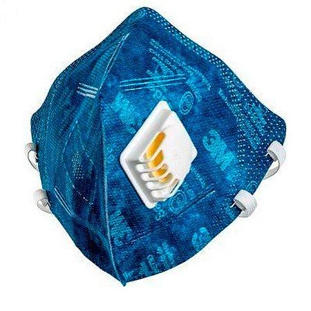 Máscara de Proteção Respiratória 3M Dobrável com Válvula