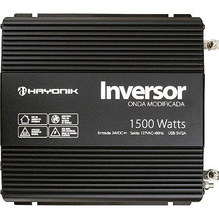 Inversor Hayonik 1500w 24v/127v Modelo Novo Onda Modificada