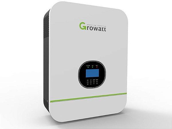 Inversor Solar 3000w Growatt Senoidal Carregador E Monitoramento Wi-Fi