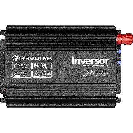 Inversor Hayonik 500w 12v/127v Modelo Novo Onda Modificada