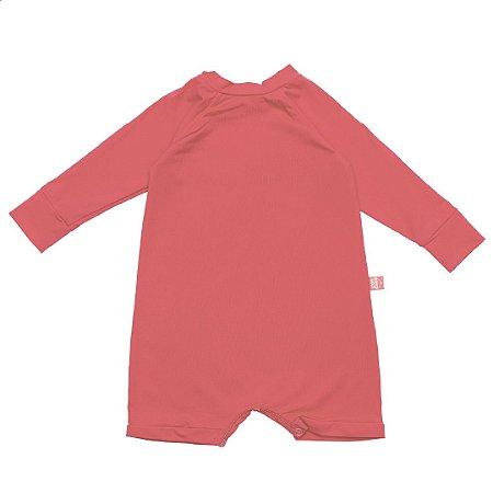 Macacão curto FPS50+ rosa