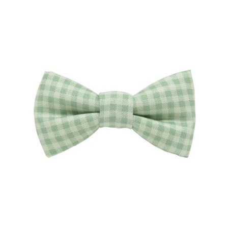 Gravata borboleta xadrez chá verde