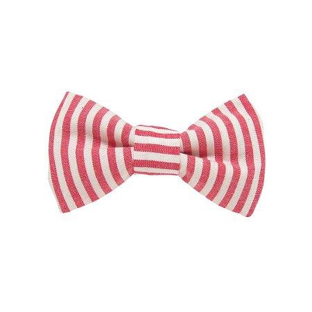 Gravata borboleta listrada vermelha