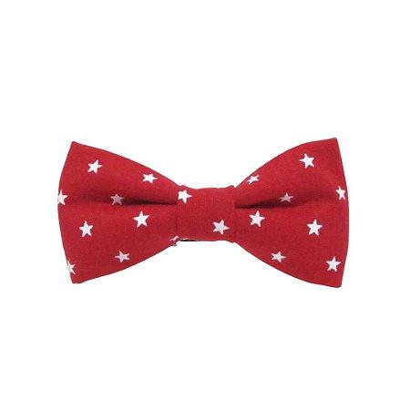 Gravata borboleta estrelas vermelha