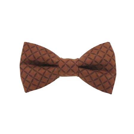 Gravata borboleta casquinha marrom