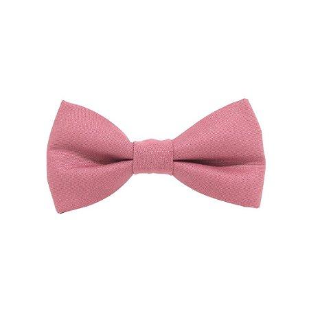 Gravata borboleta blush