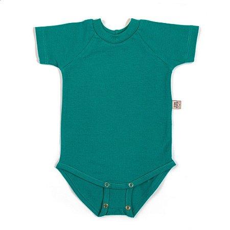 Body manga curta extensível verde