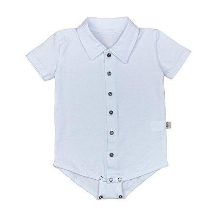 Body camisa manga curta branca