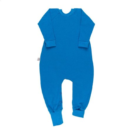 Macacão longo basic azul