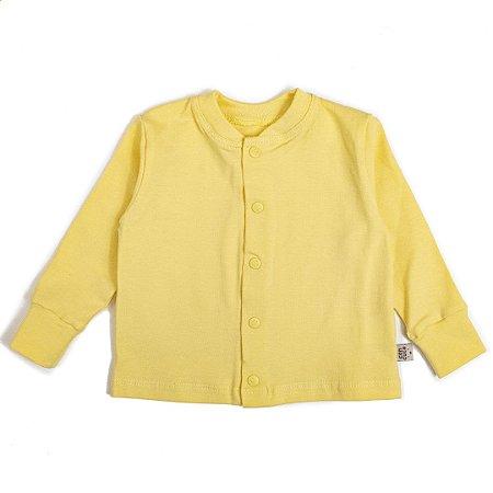 Cardigan basic amarelo