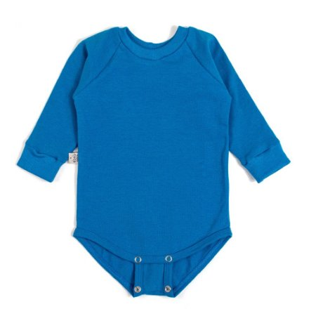 Body manga longa extensível azul