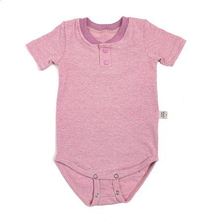 Body stone manga curta extensível rosa