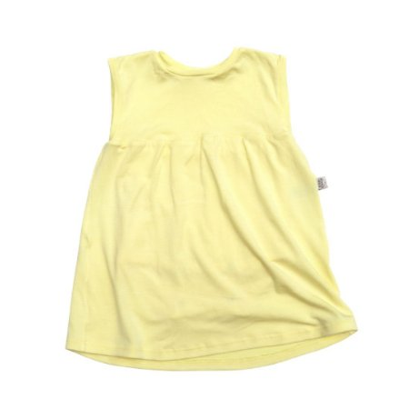 Body vestido modal amarelo