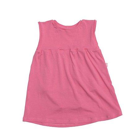 Body vestido modal rosa