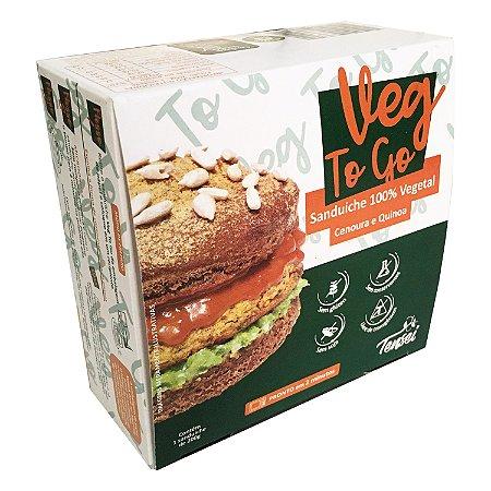 Lanche Pronto Vegano   Veg To Go Cenoura e Quinoa