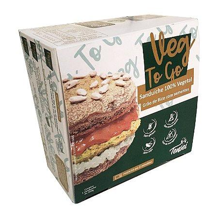 Lanche Pronto Vegano | Veg To Go Grão de Bico com Sementes