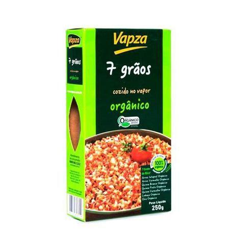 7 Grãos orgânicos 250 g Vapza Cozido pronto para comer.
