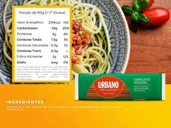 Macarrão de Arroz Espaguete Sem Glúten  integral 500g - Urbano