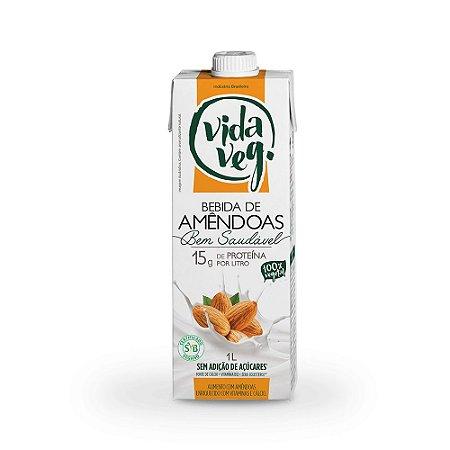 Leite vegetal de amêndoas 1 litro