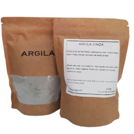 Argila cinza orgânica - 400 g