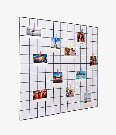Memory board 60x60cm + 10 Fotos Polaroids + 10 Pregadores