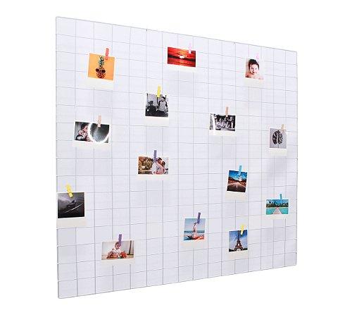 Memory board 80x80cm + 20 Fotos Polaroids + 10 Pregadores