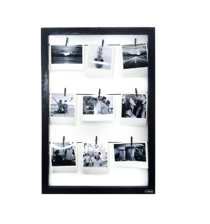 Quadro de fotos varal 45x30cm + 9 pregadores