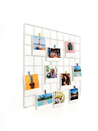 Memory board 40x40cm + 10 Fotos Polaroids + 10 pregadores