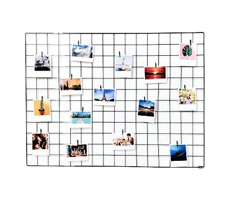 Memory board 60x80cm + 15 Fotos Polaroids + 15 pregadores