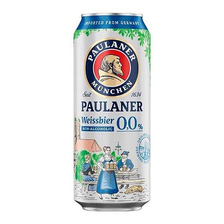 Cerveja Alemã Paulaner Weiss Sem Álcool Lata 500ml