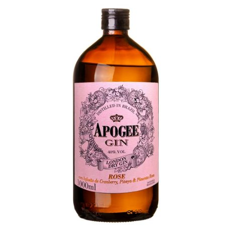 Gin Apogee Rose 1L Infusão Cranberry, Pitaya e Pimenta Rosa
