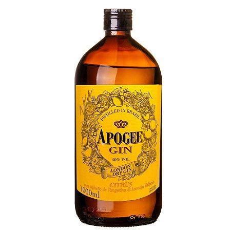 Gin Apogee Citrus 1L Infusão de Tangerina e Laranja Valência