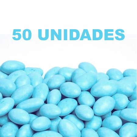 Amêndoa Confeitada Azul Bebê - 50 unidades