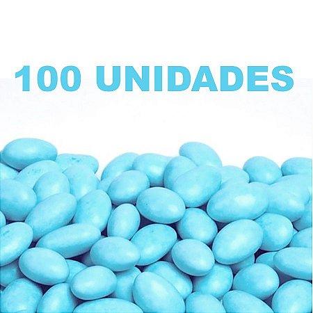 Amêndoa Confeitada Azul Bebê Lembrancinha 100 unidades