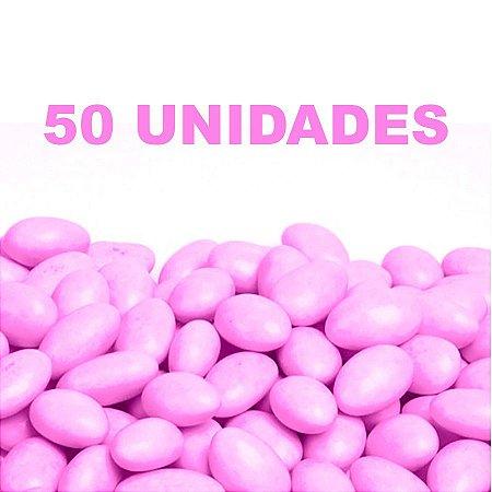 Amêndoa Confeitada Rosa 50 unidades